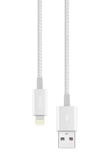 Integra Lightning  USB A Gümüş Renk Kablo-Moshi